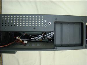 Rear I/O panel and IR blaster port