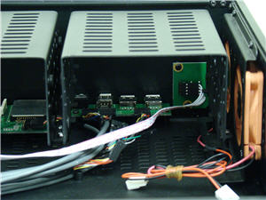 Front I/O board and power switch