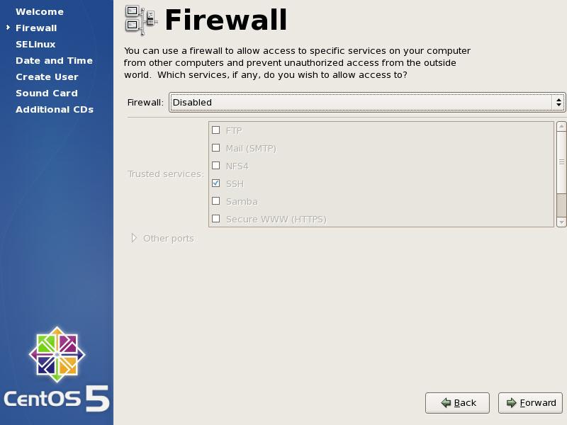 Firewall Config