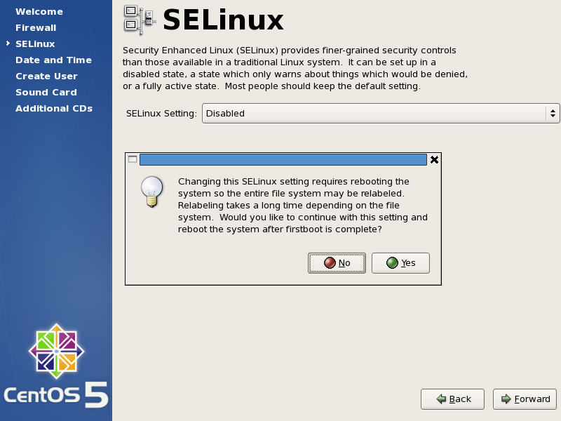 SELinux Warning