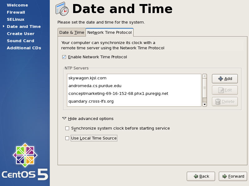 Date And Time Config