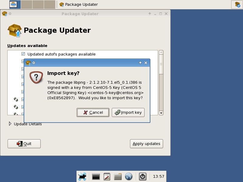 CentOS Repository Key