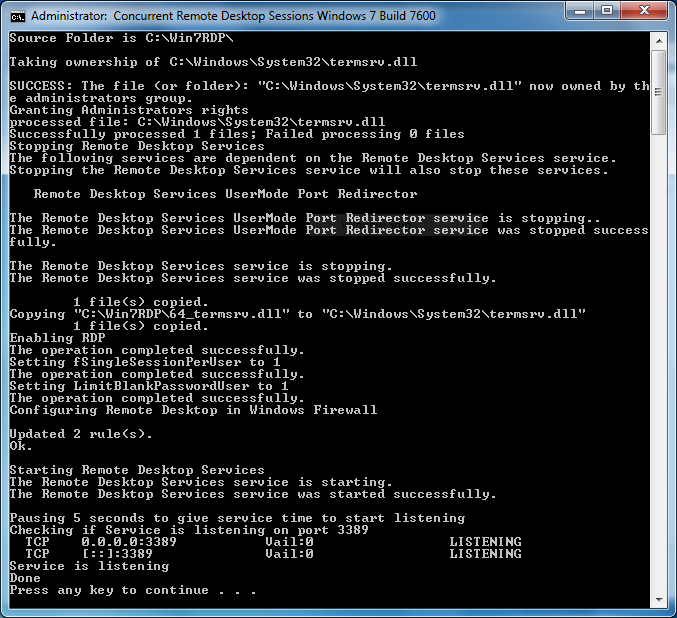 Concurrent rdp patcher windows 7 free download setup