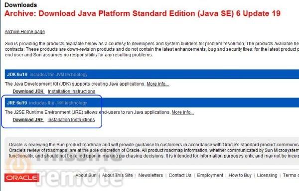 SageTV Java Install