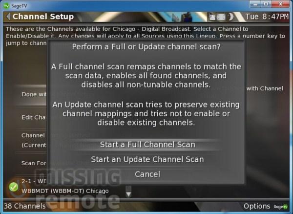 SageTV Client Setup