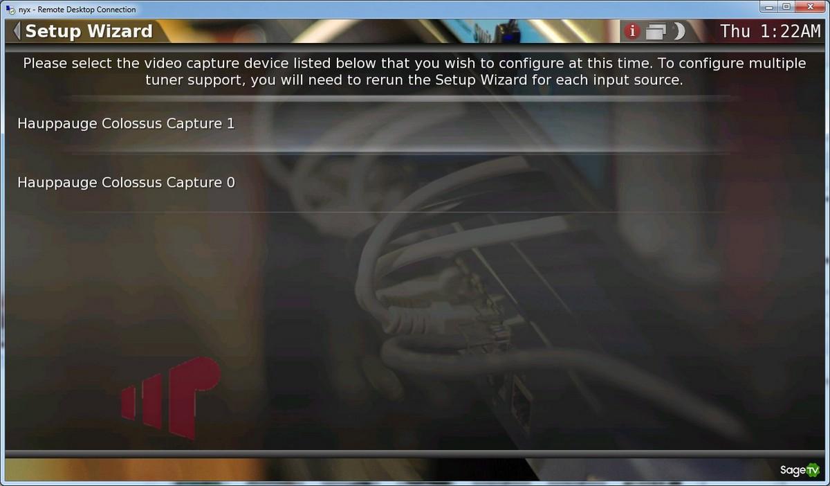 SageTV7 + Hauppauge Colossus HD PVR