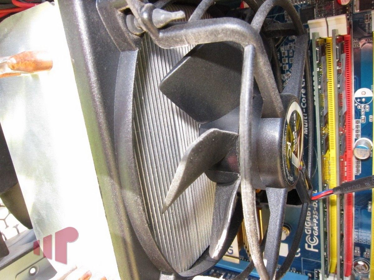 Dusted CPU Cooler