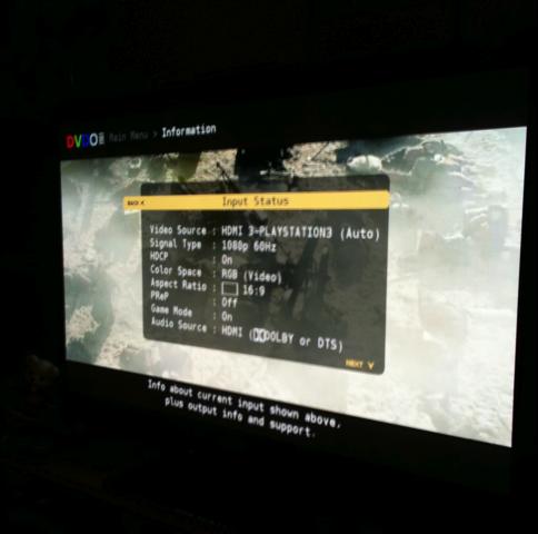 DVDO Edge Info Screen