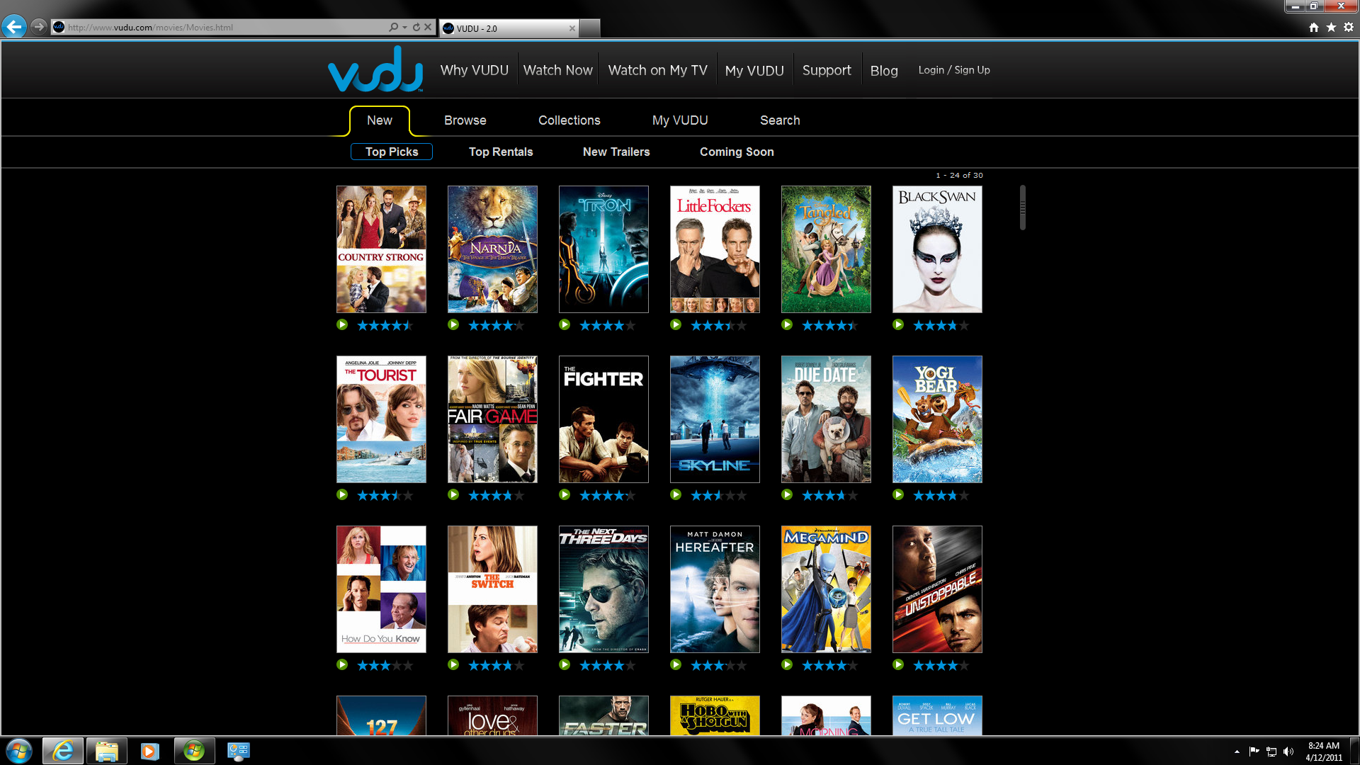VUDU in Browser