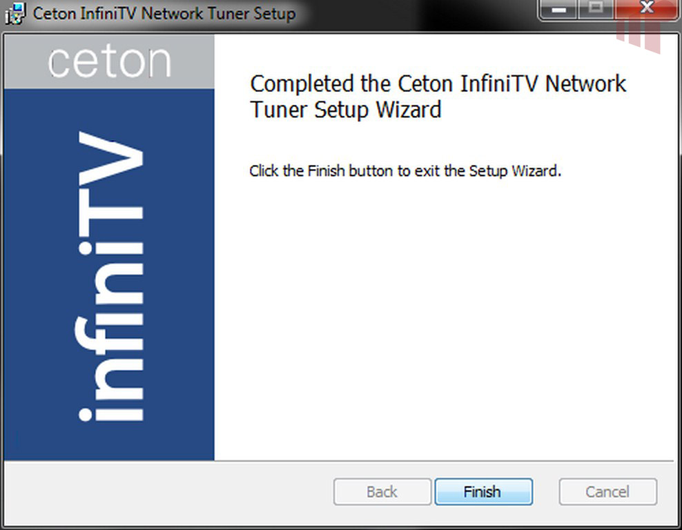 InfiniTV Network Wizard Installation