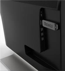 Roku OTT Stick Installed